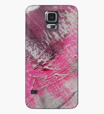Abstrakt Pink White MW Art Marion Waschk Hülle & Skin für Samsung Galaxy