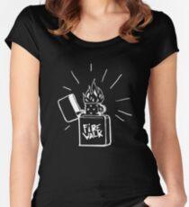 Firewalk Lighter T-shirt- Life is Strange Before the storm Chloe Price T-shirt Women's Fitted Scoop T-Shirt