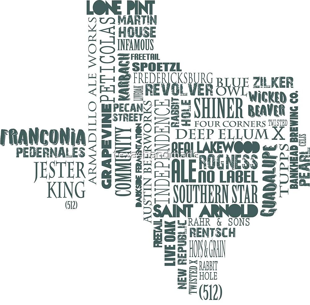 Texas Beer Lovers' Merch (dark turqouise) by texashandmade