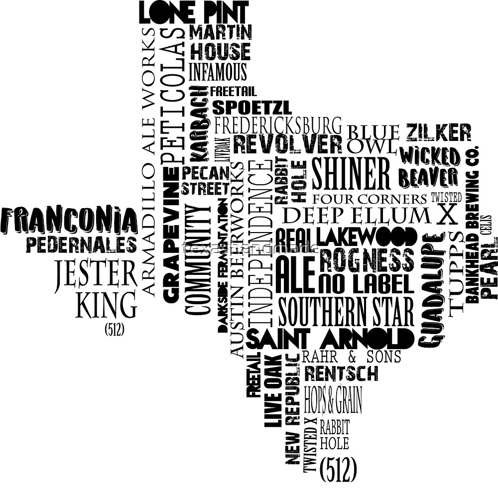 Texas Beer Lovers' Merch (black) by texashandmade