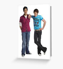 Drake and Josh Greeting Card