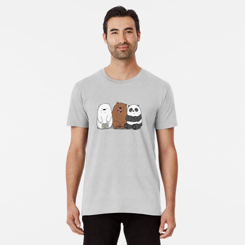 Wir Bare Bears Cartoon - Baby Bär Cubs - Grizz, Panda, Eisbär Premium T-Shirt