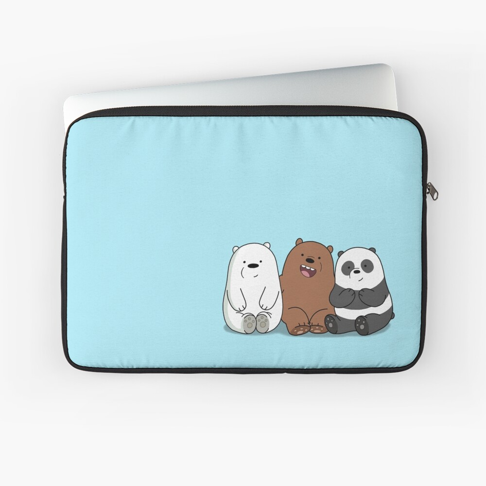 Wir Bare Bears Cartoon - Baby Bär Cubs - Grizz, Panda, Eisbär Laptoptasche
