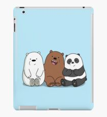 We Bare Bears Cartoon - Baby Bear Cubs - Grizz, Panda, Ice Bear iPad Case/Skin