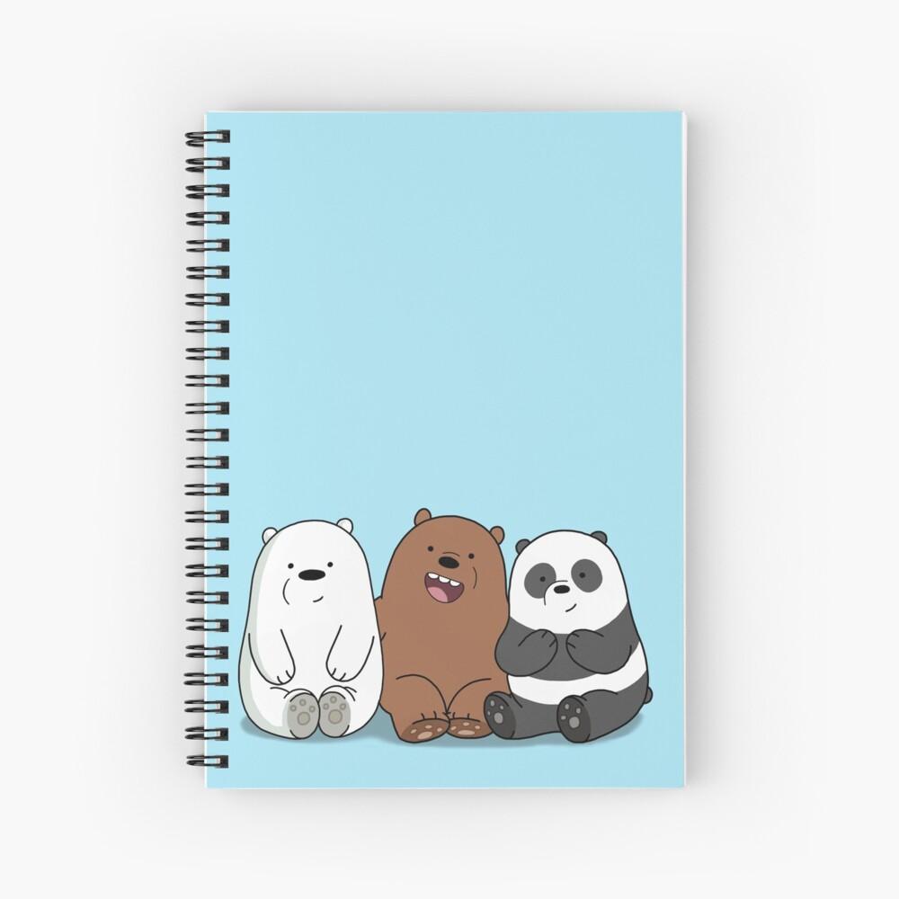 Wir Bare Bears Cartoon - Baby Bär Cubs - Grizz, Panda, Eisbär Spiralblock