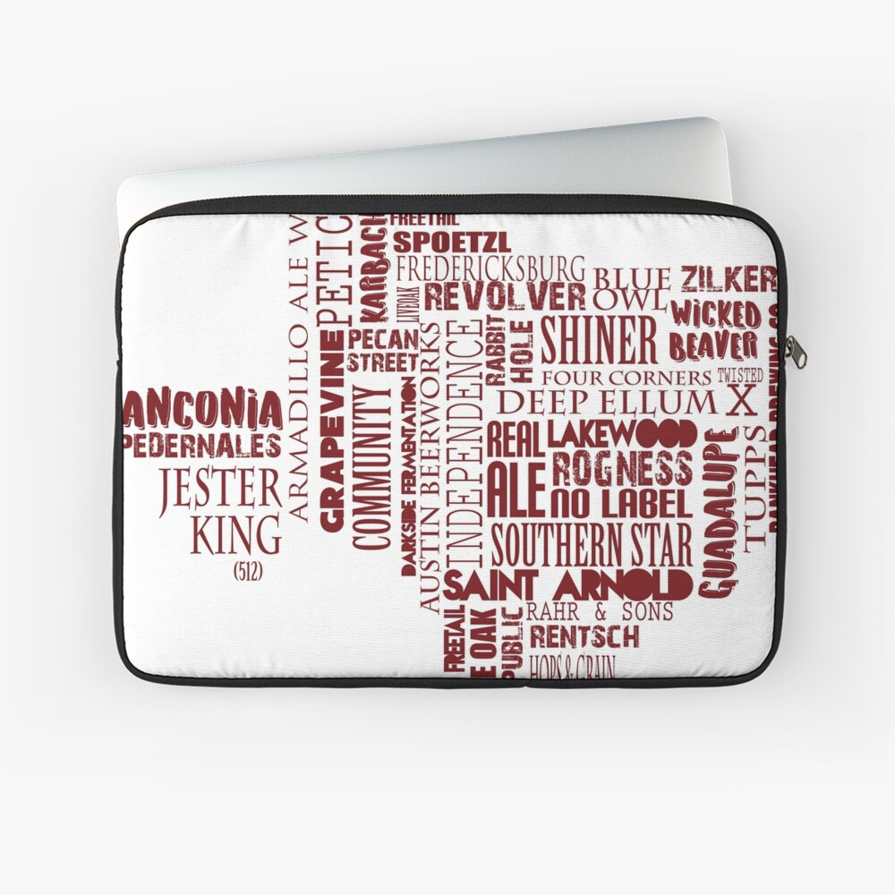 Texas Beer Lovers' Merch (red) for Oktoberfest Laptop Sleeve