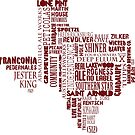 Texas Beer Lovers' Merch (red) for Oktoberfest by texashandmade