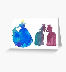Sisters Inspired Silhouette Greeting Card
