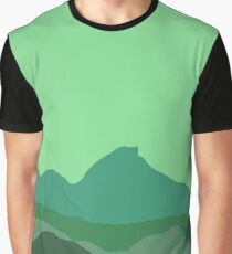 Mountains - Green Graphic T-Shirt