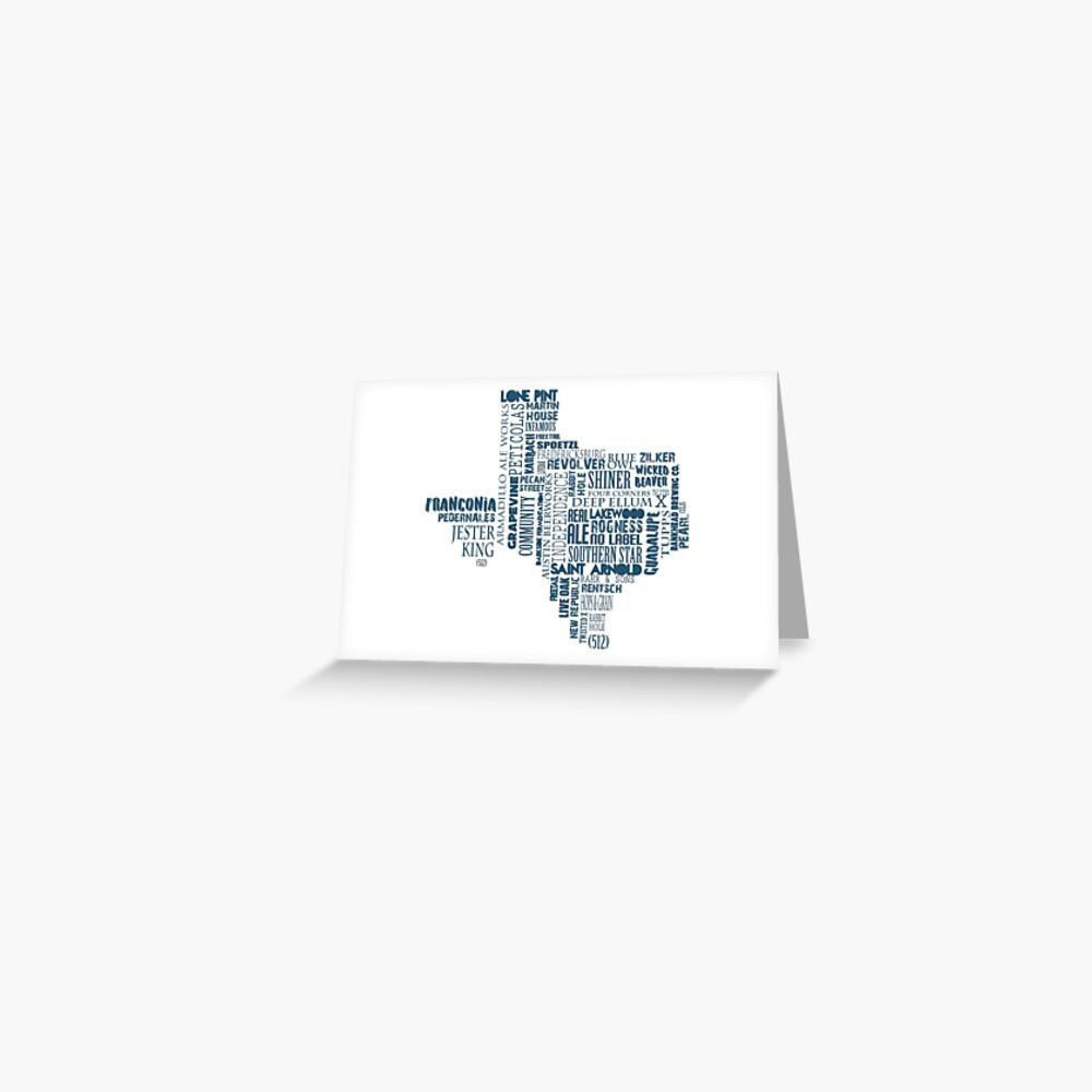 Texas Beer Lovers' Merch (blue) Greeting Card