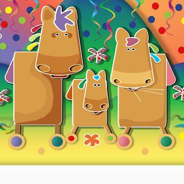 Pinata Party Ponies TShirt by migaloomagic