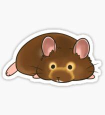 Hamster sploot Sticker