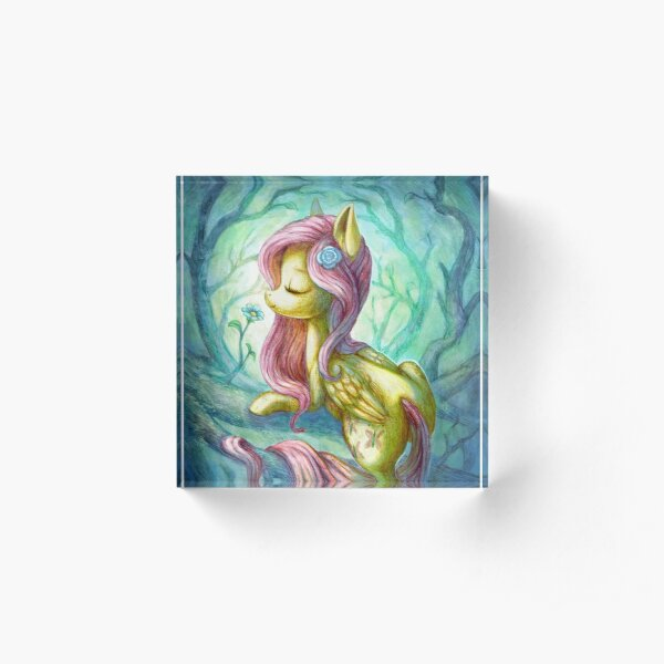 Fluttershy the Forest dryad Acrylic Block