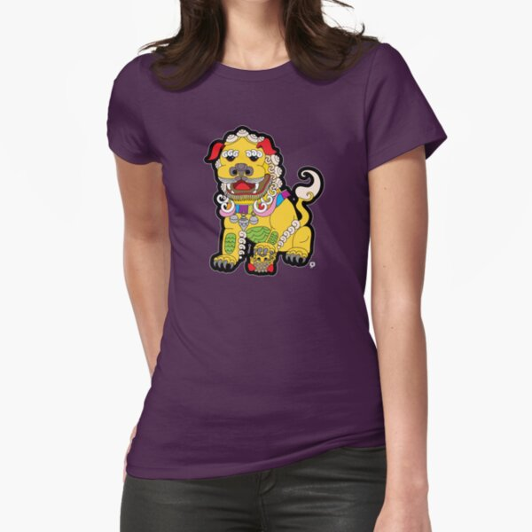 Golden Temple Lion - Female Fitted T-Shirt