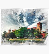 Cracow art 7 Wawel #cracow #krakow #city Poster