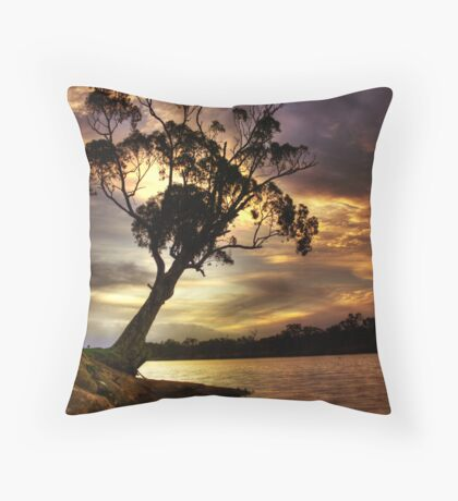 River Redgum Sunset Throw Pillow