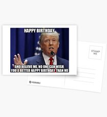 Donald Trump Happy Birthday Meme Postcards