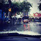Swan Street Downpour by Elaine Stevenson