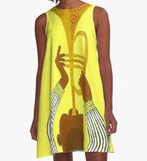 NEW ORLEANS ; Vintage Mardi Gras Print A-Line Dress