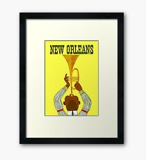 """NEW ORLEANS"" Vintage Mardi Gras Print Framed Print"
