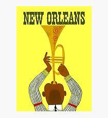 """NEW ORLEANS"" Vintage Mardi Gras Print Photographic Print"