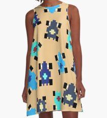Pixel Car [BLUE] A-Line Dress