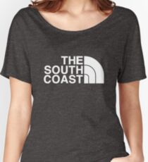 BRIGHTON HOVE ALBION FOOTBALL CLUB TRIBUTE PRINT - THE SOUTH COAST / NORTH FACE Women's Relaxed Fit T-Shirt