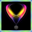 Flower of Life ( digital art pendant ) by amira