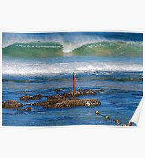 The Mystical Colours of the Surf - Bar Beach NSW Poster