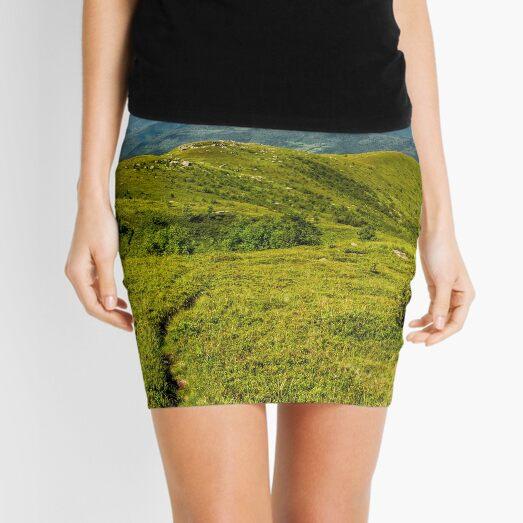 footpath through grassy mountain meadow Mini Skirt