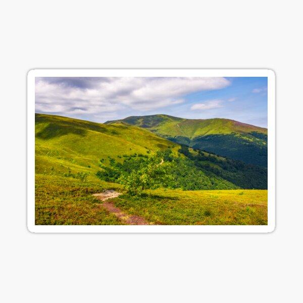 path on the edge of hillside on mountain ridge Sticker