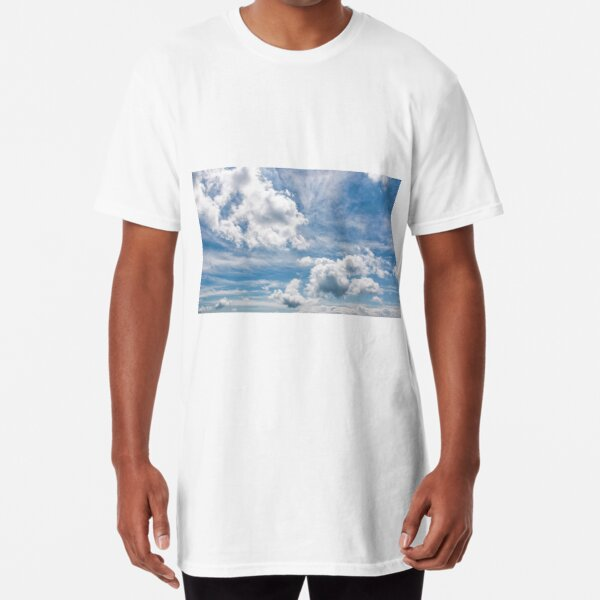 cloudy dynamic formation on a blue summer sky Long T-Shirt