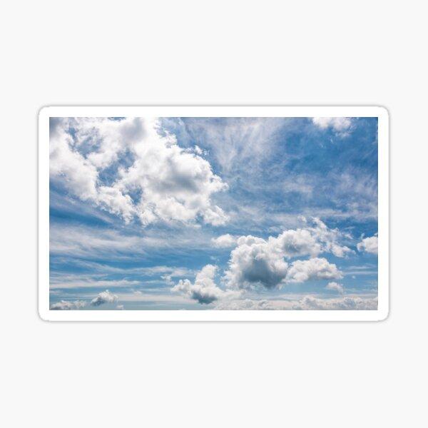cloudy dynamic formation on a blue summer sky Sticker