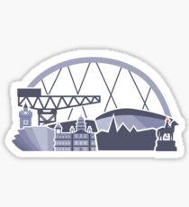 Glasgow Skyline Sticker