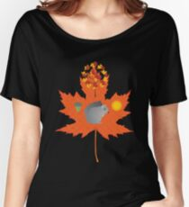 Grey Squirrel Autumn Pattern Women's Relaxed Fit T-Shirt