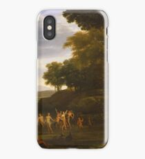 Landscape with Dancing Satyrs and Nymphs 1646 Claude Lorrain iPhone Case/Skin