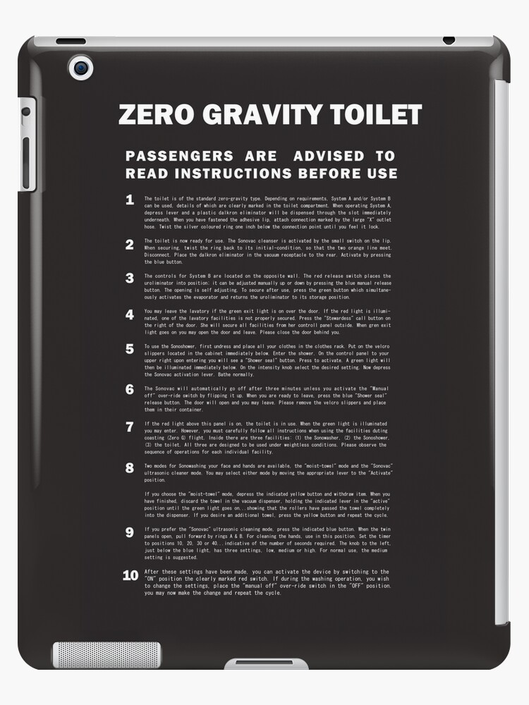 2001 A Space Odyssey Zero Gravity Toilet Instructions Ipad Cases