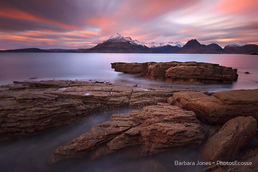 Elgol. Sunset in Winter. Isle of Skye. Scotland. by Barbara  Jones ~ PhotosEcosse