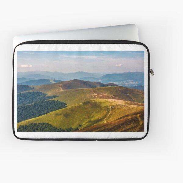 path through the mountain ridge in summer Laptop Sleeve