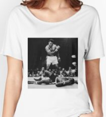 Muhammad Ali Knocks Out Sonny Liston Women's Relaxed Fit T-Shirt