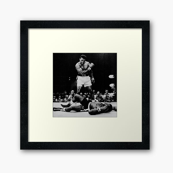 Muhammad Ali Knocks Out Sonny Liston Framed Art Print