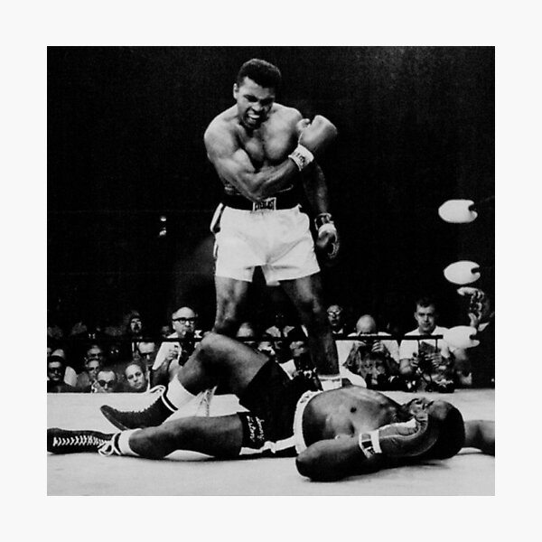 Muhammad Ali Knocks Out Sonny Liston Photographic Print