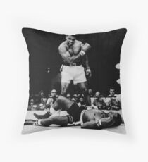 Muhammad Ali Knocks Out Sonny Liston Throw Pillow