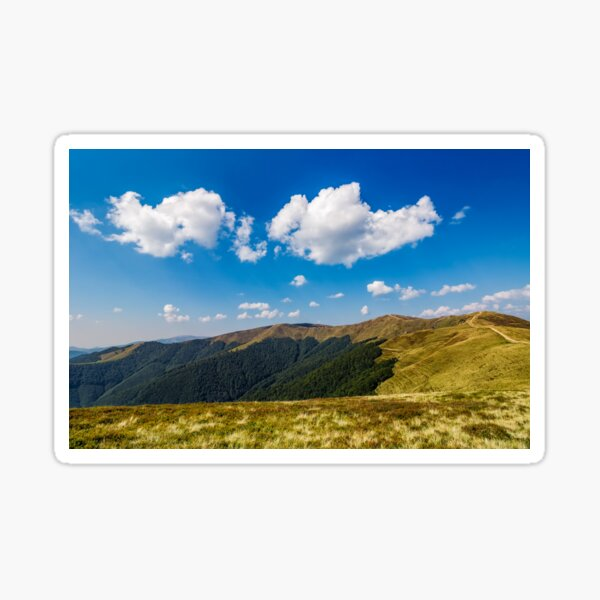 beautiful clouds over mountain ridge Sticker