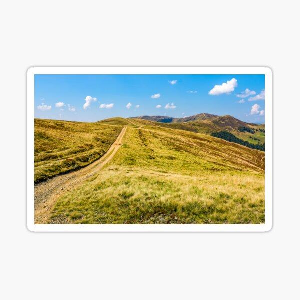 path on high altitude alpine hills Sticker