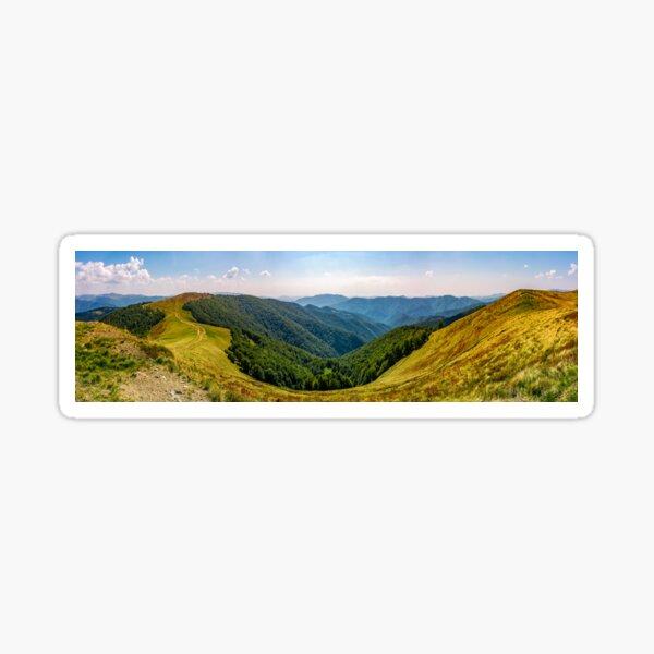 gorgeous panorama of alpine mountain ridge Sticker