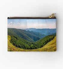 gorgeous panorama of alpine mountain ridge Studio Pouch
