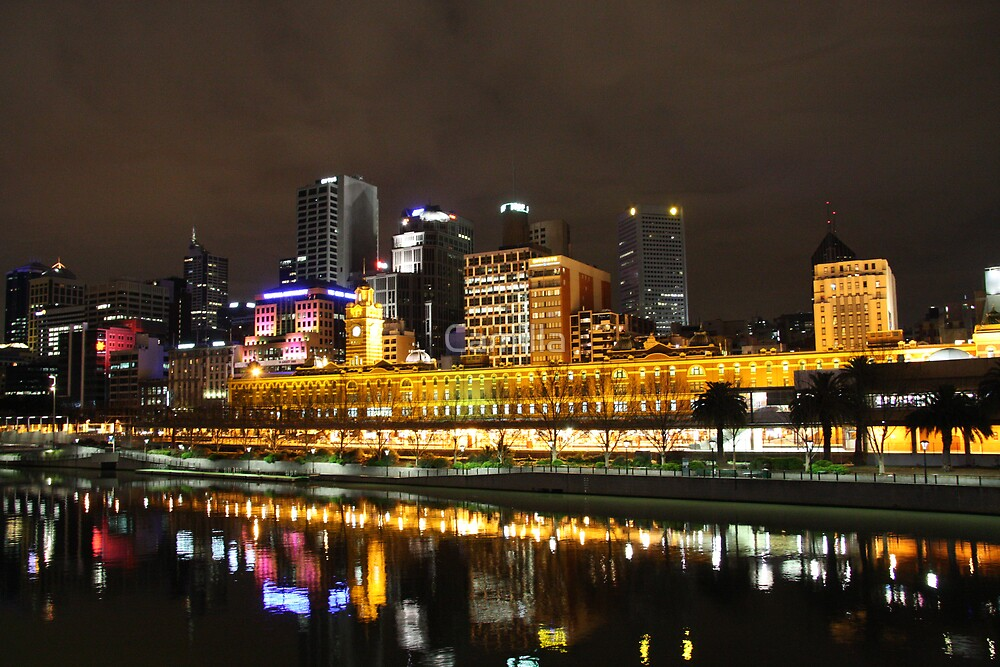 Flinders Street Station from Yarra River by Camilla