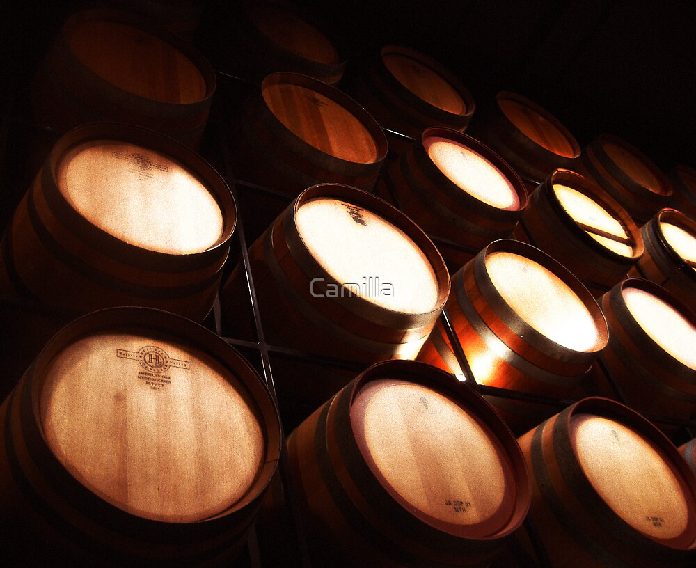 Wine Centre Barrels by Camilla