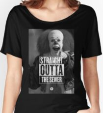 straight outta sewer Women's Relaxed Fit T-Shirt
